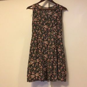 Vintage floral mini dress small